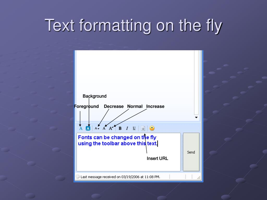 Text formatting on the fly