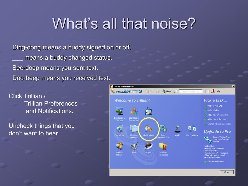 What's all that noise?