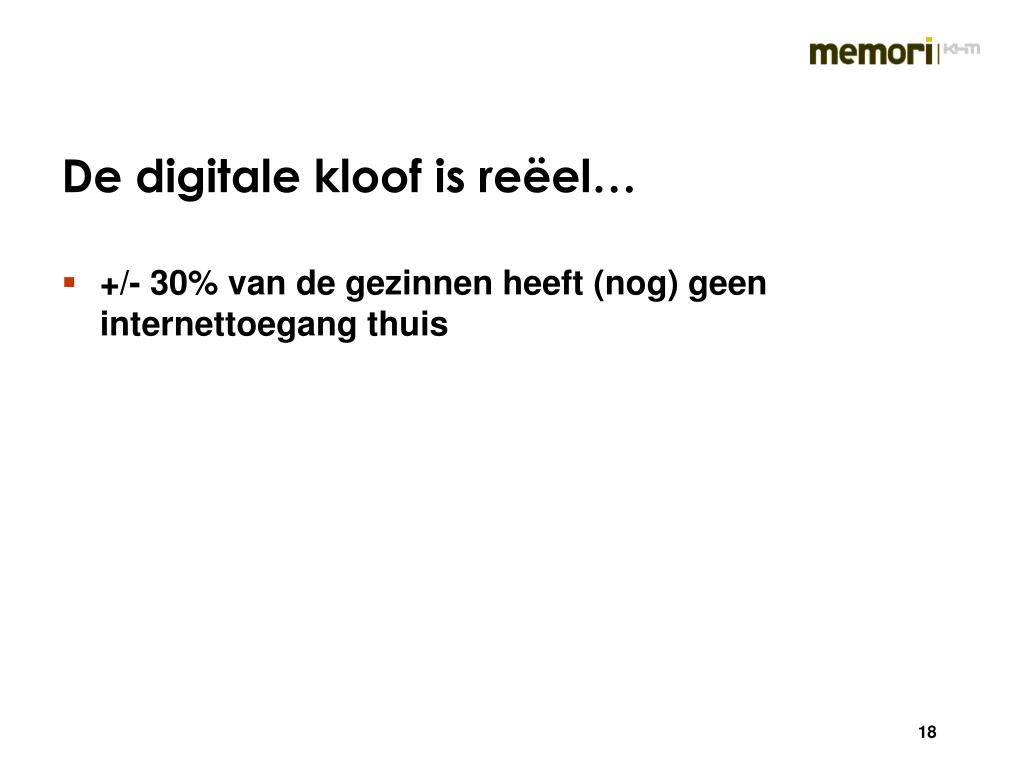 De digitale kloof is reëel…