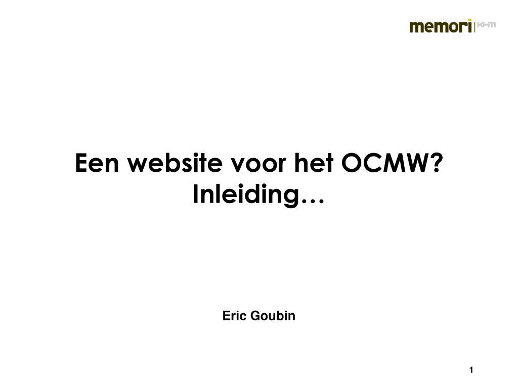 een website voor het ocmw inleiding