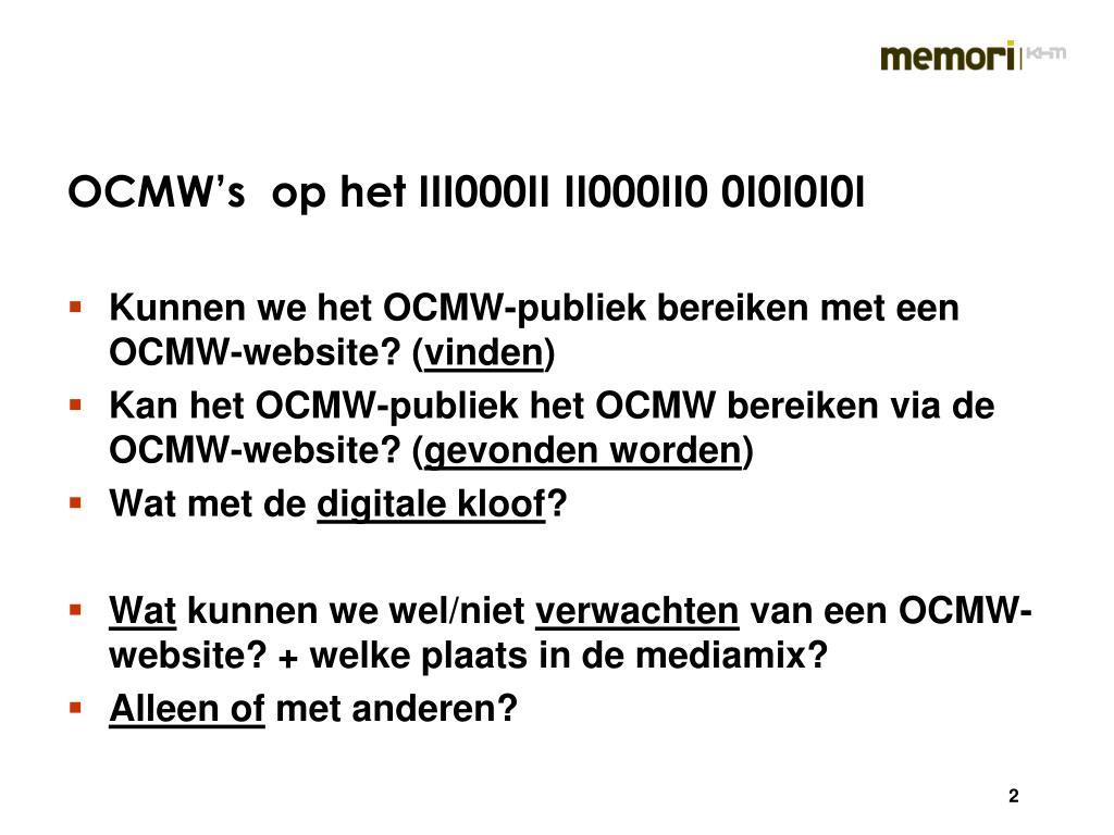 OCMW's