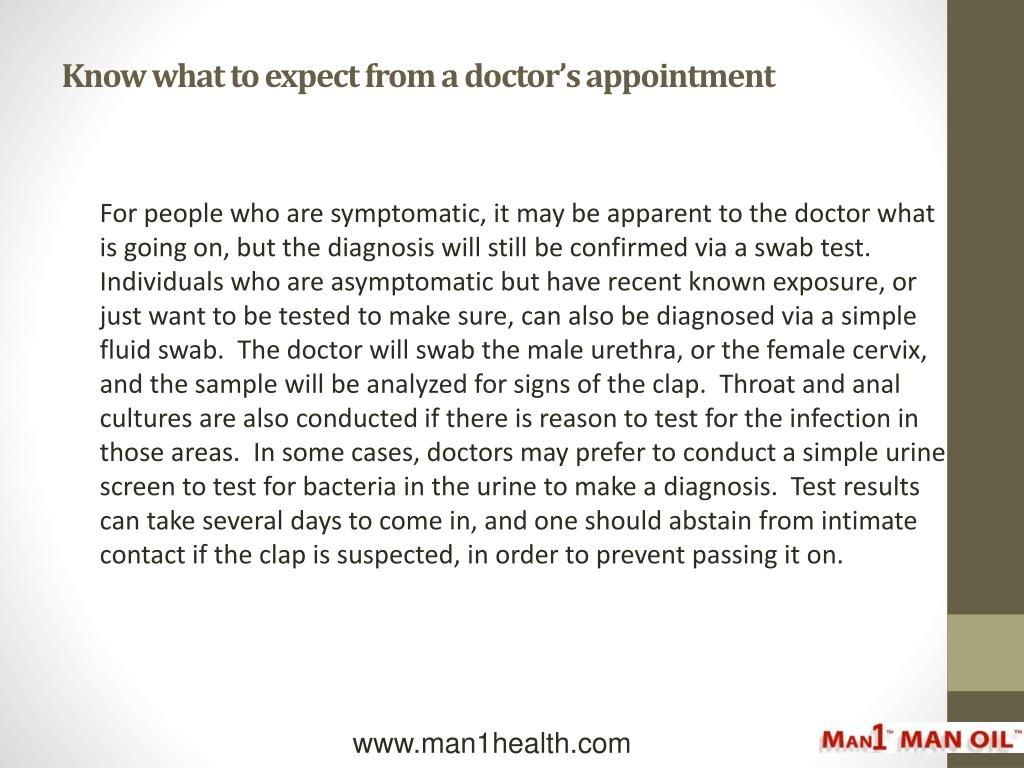Know what to expect from a doctor's appointment