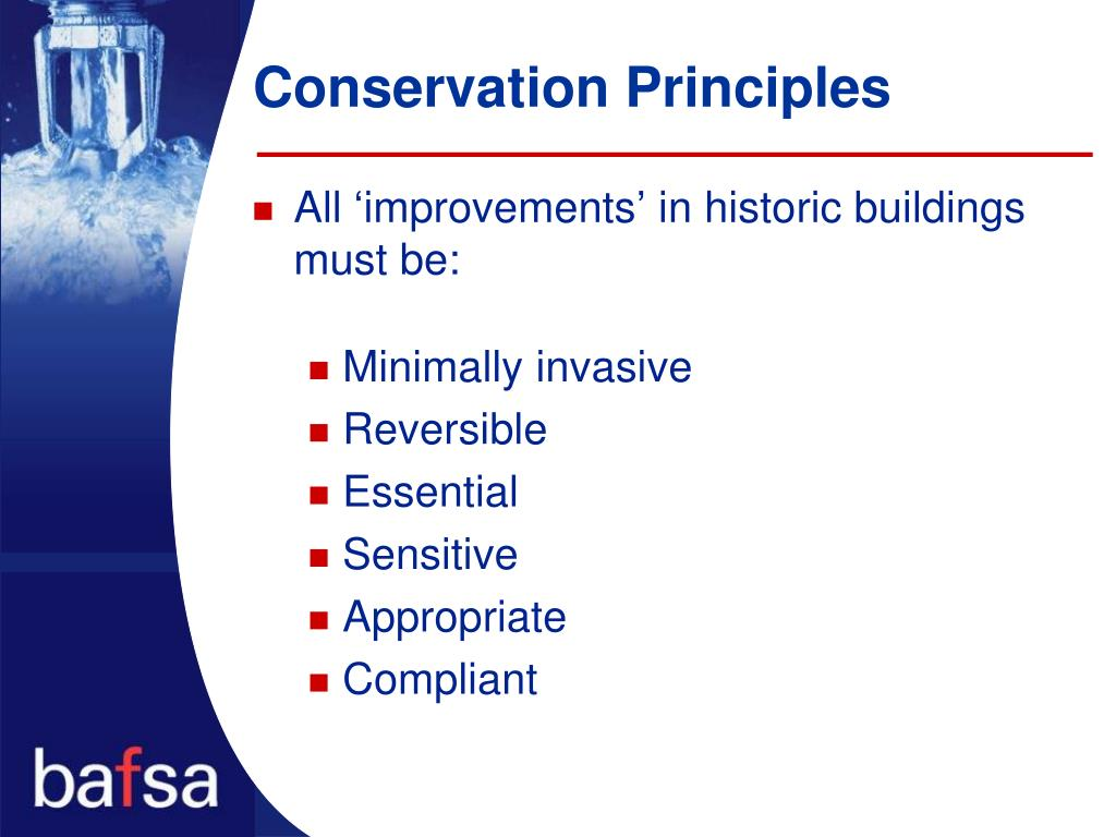 Conservation Principles