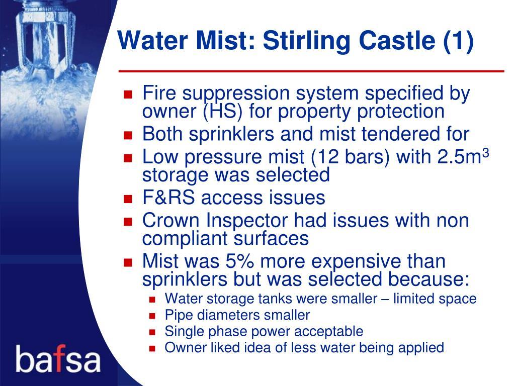 Water Mist: Stirling Castle (1)