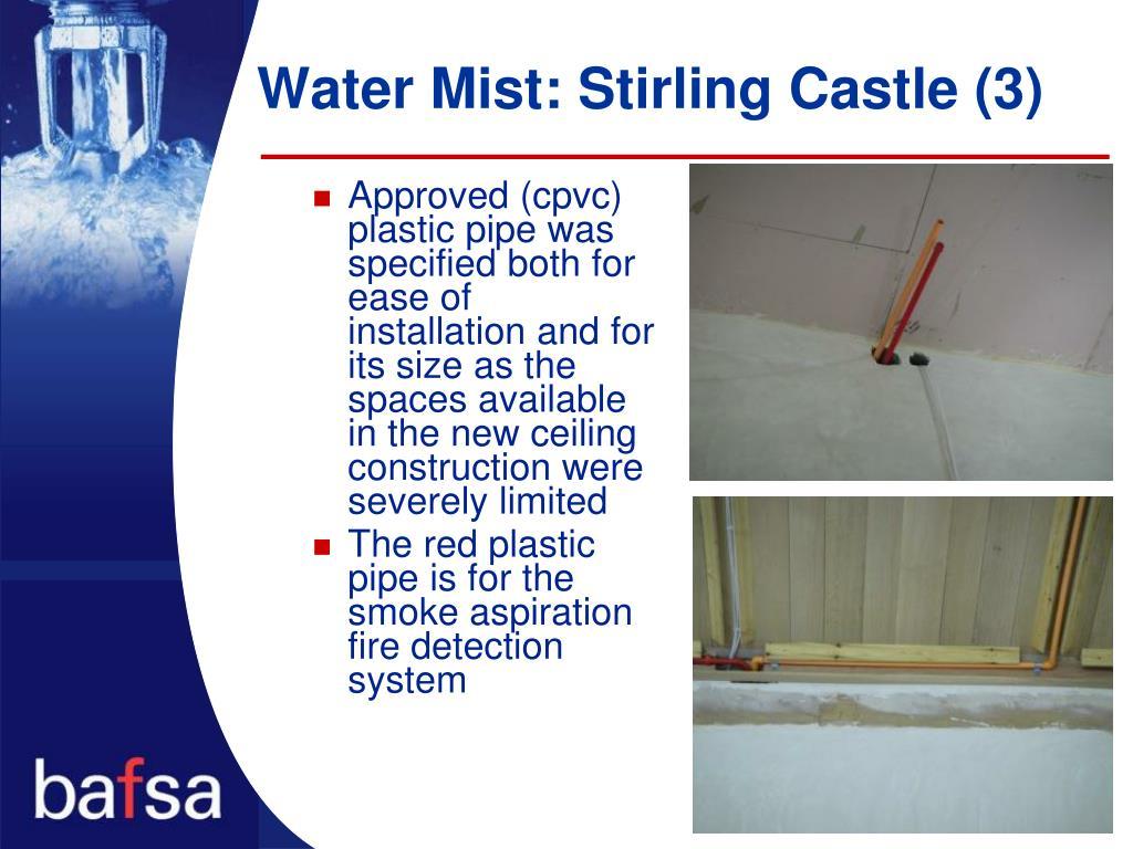 Water Mist: Stirling Castle (3)
