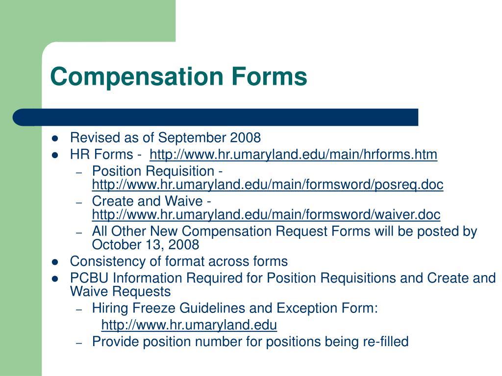 Compensation Forms