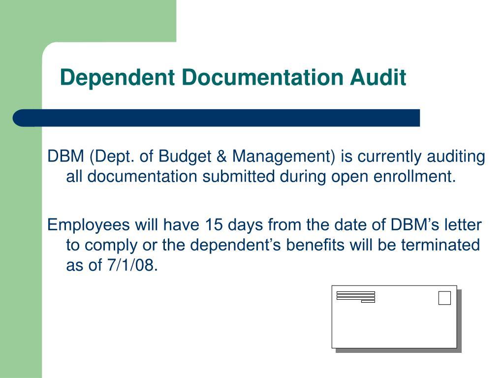Dependent Documentation Audit