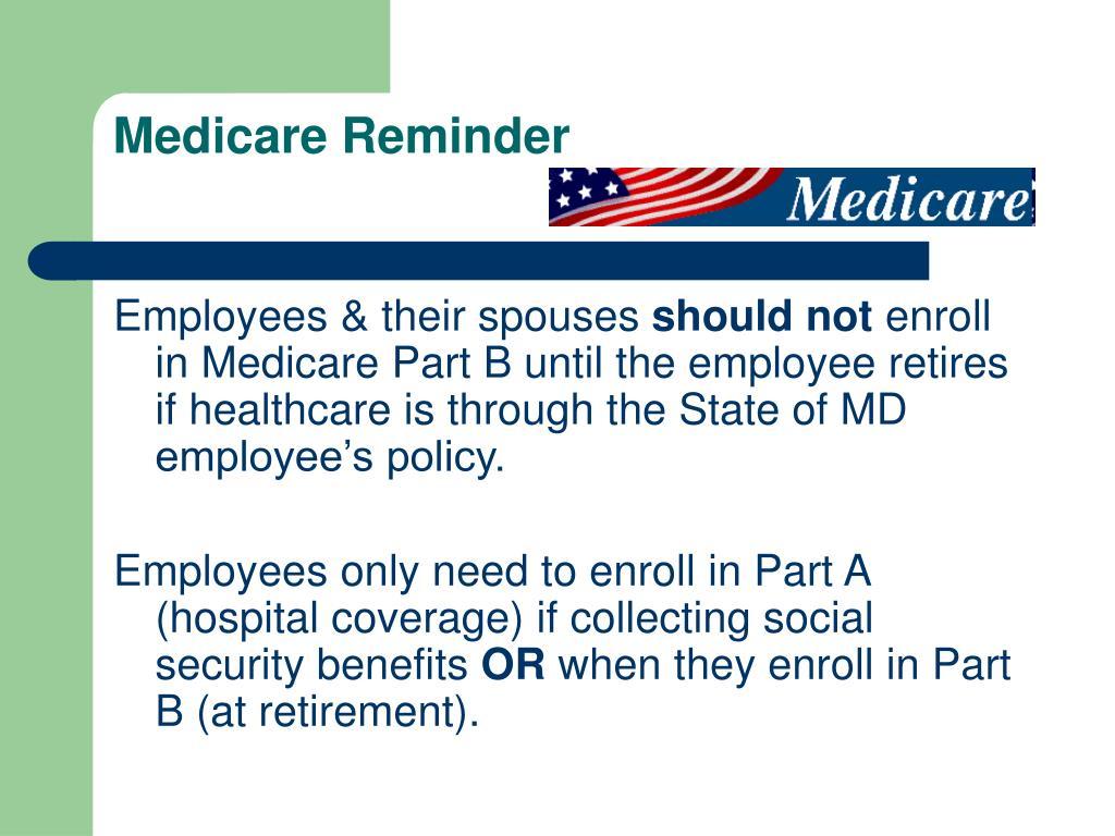 Medicare Reminder