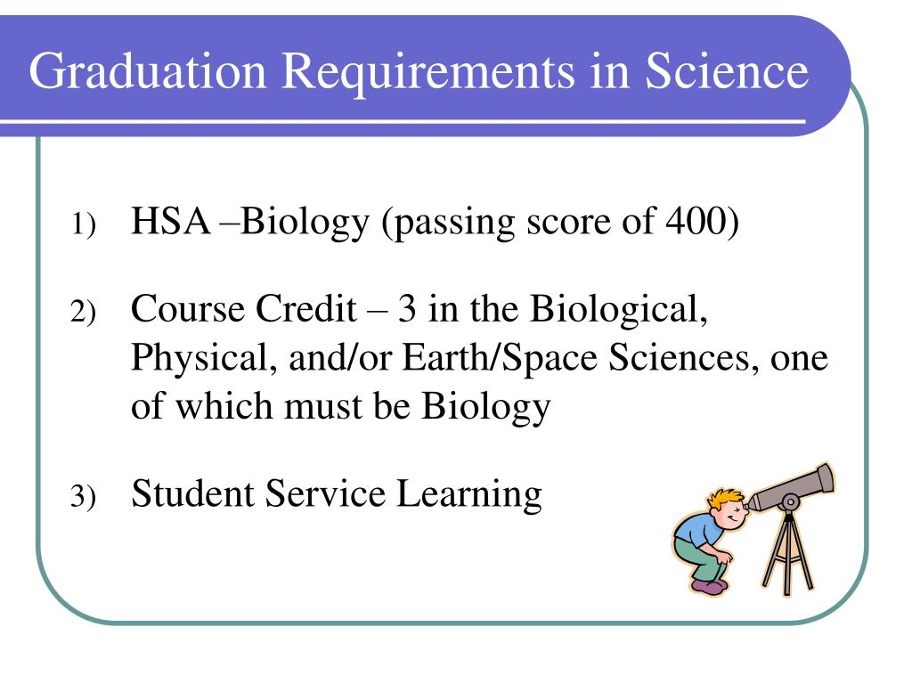 Graduation Requirements in Science