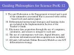 guiding philosophies for science prek 125