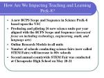 how are we impacting teaching and learning prek 8