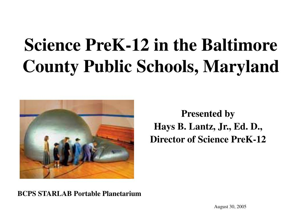 science prek 12 in the baltimore county public schools maryland