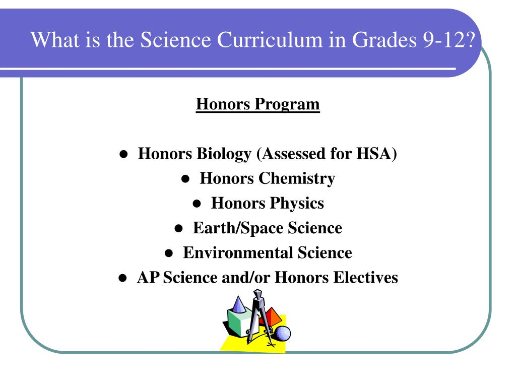 What is the Science Curriculum in Grades 9-12?