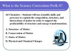 what is the science curriculum prek 812