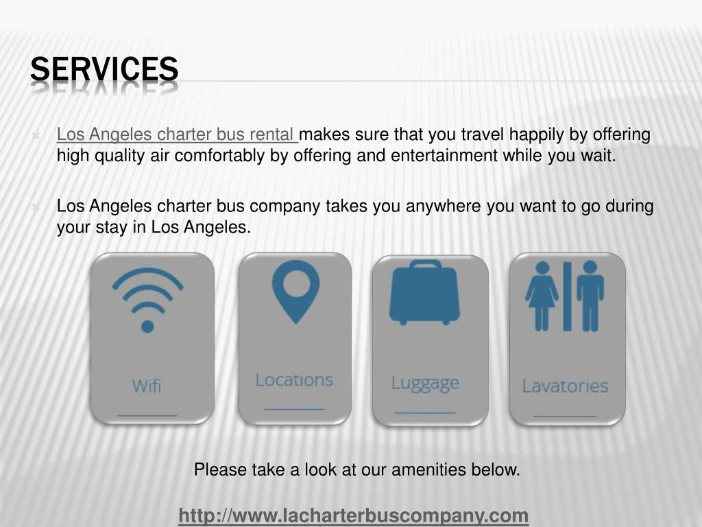 Los Angeles charter bus rental