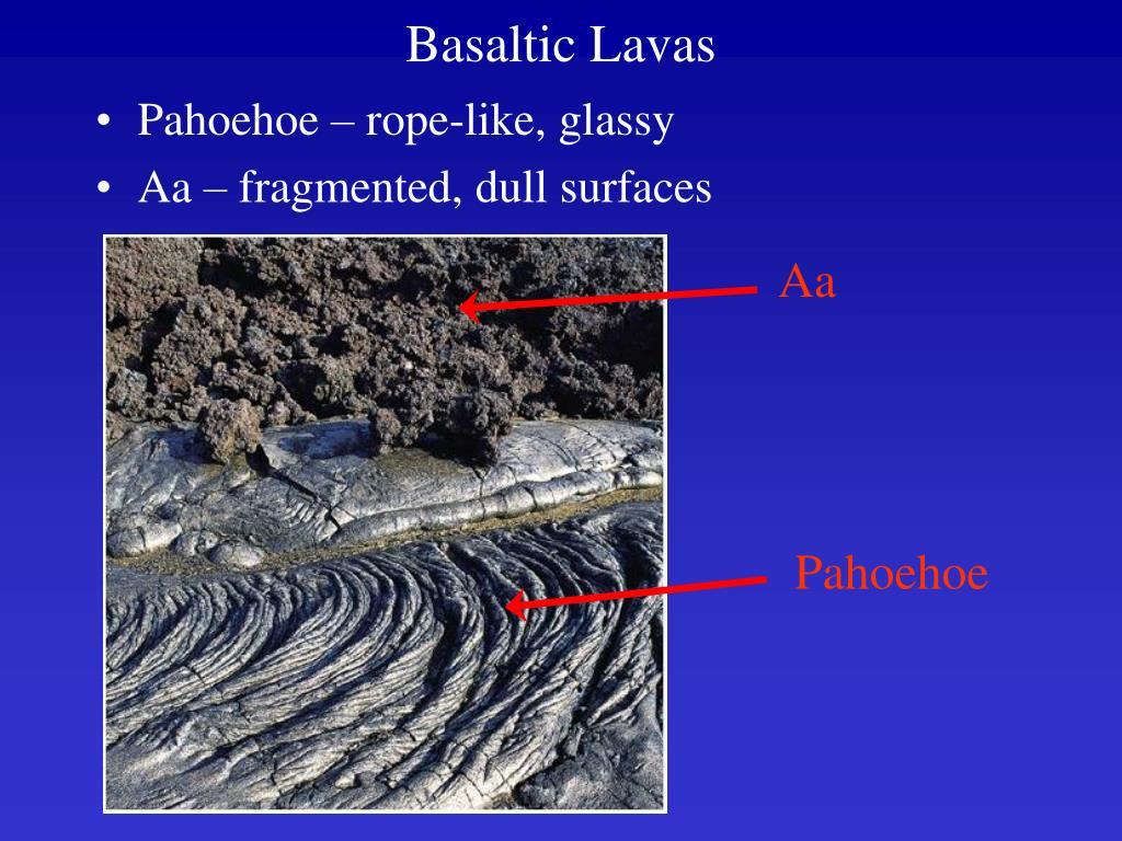 Basaltic Lavas
