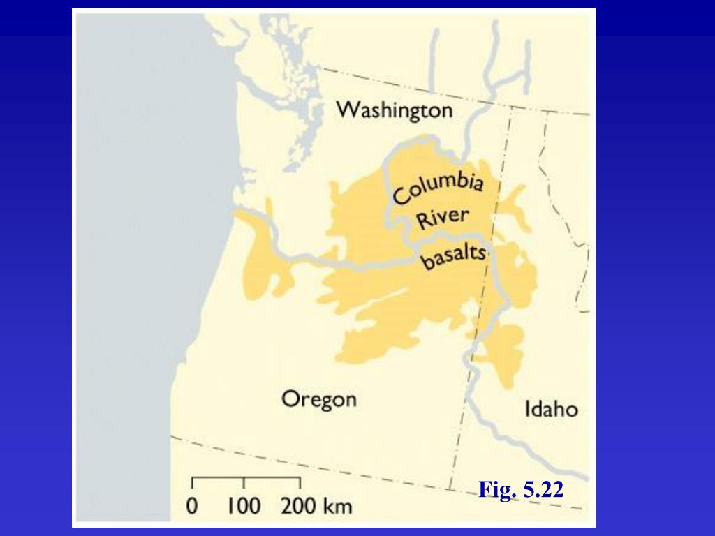 Extent of Columbia River Basalts