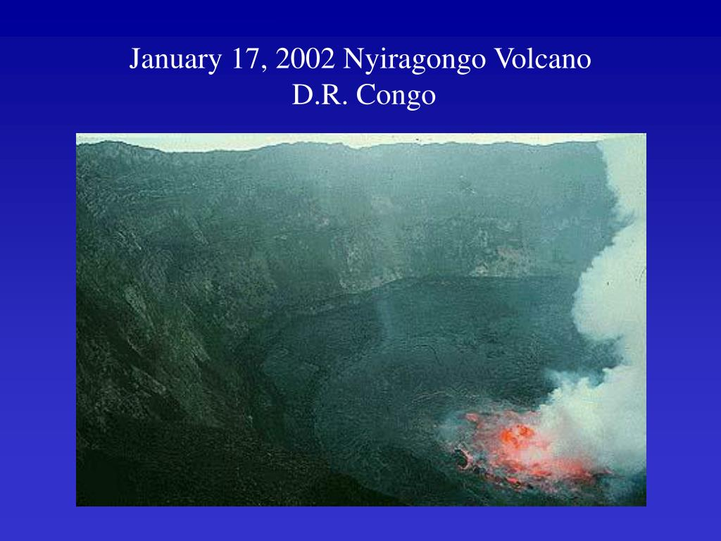 January 17, 2002 Nyiragongo Volcano