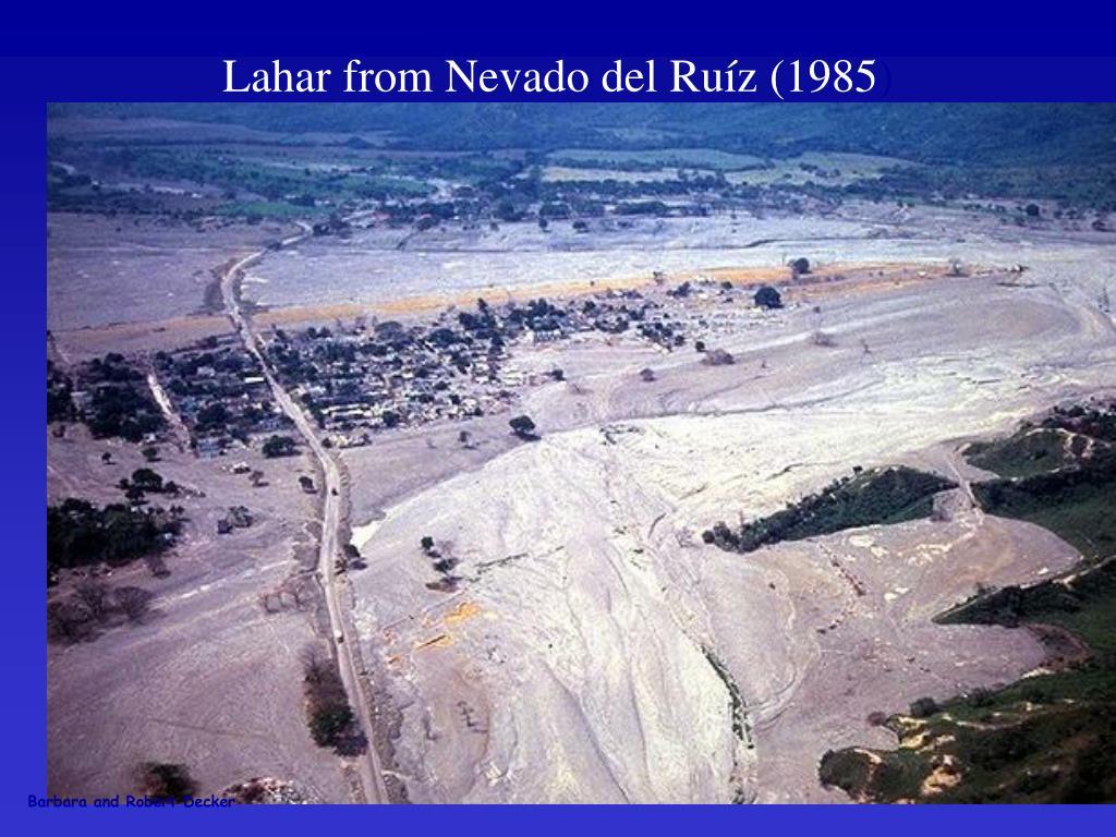 Lahar from Nevado del Ru