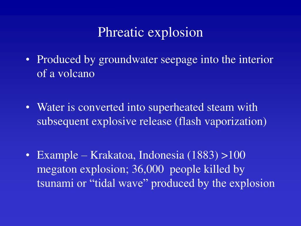 Phreatic explosion