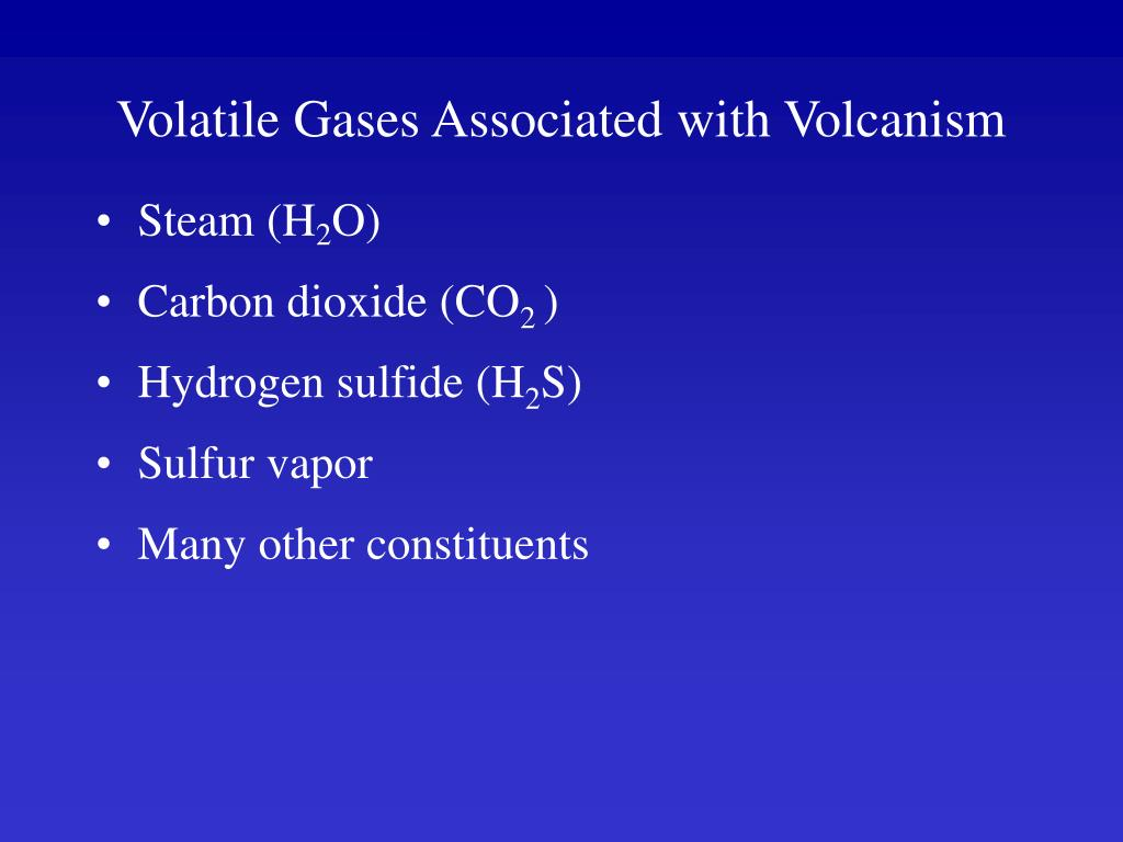 Volatile Gases Associated with Volcanism