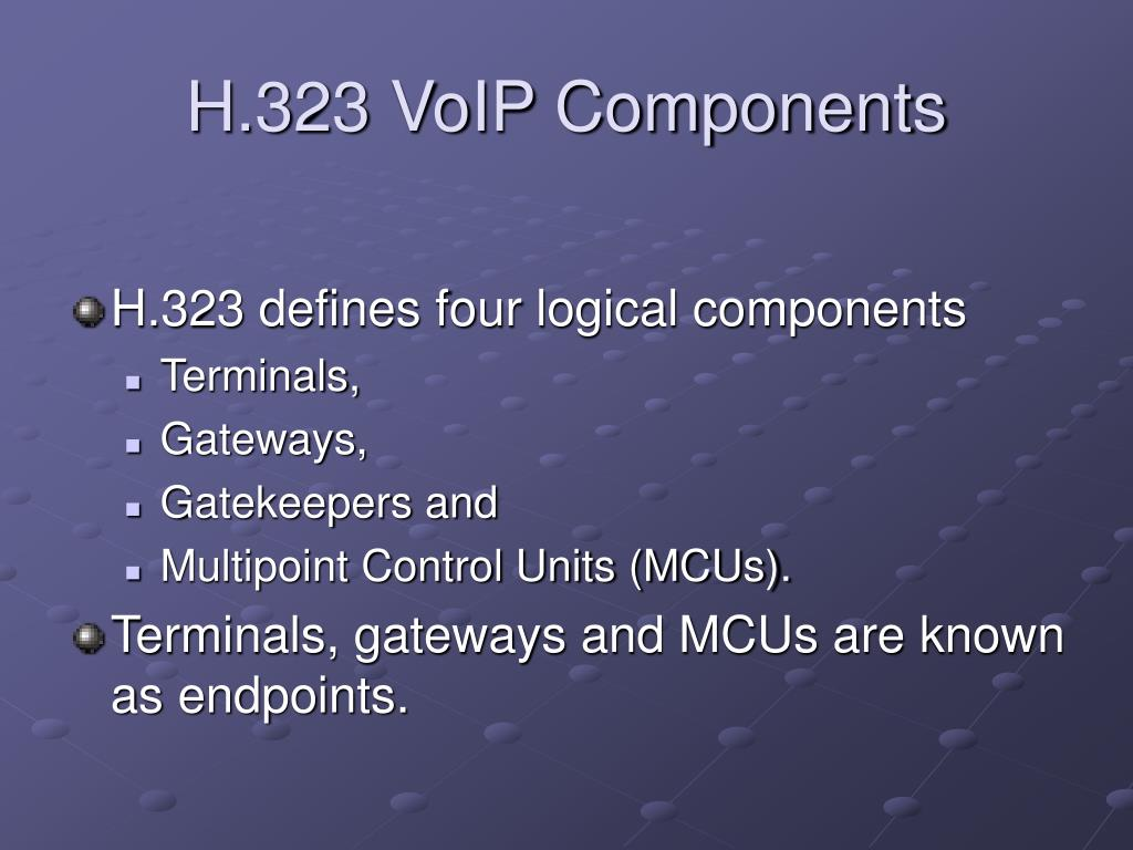 H.323 VoIP Components