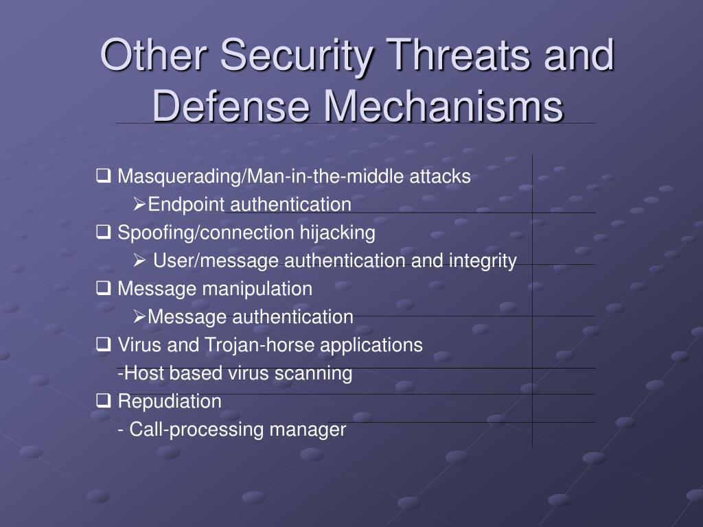 Other Security Threats and Defense Mechanisms
