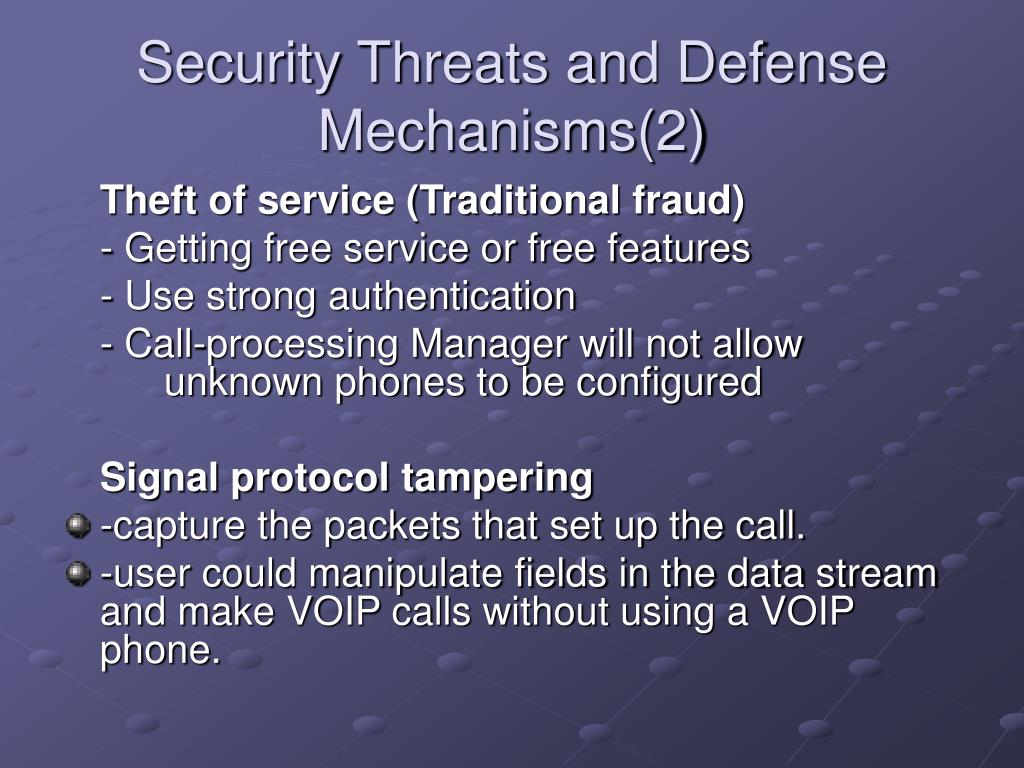 Security Threats and Defense Mechanisms(2)
