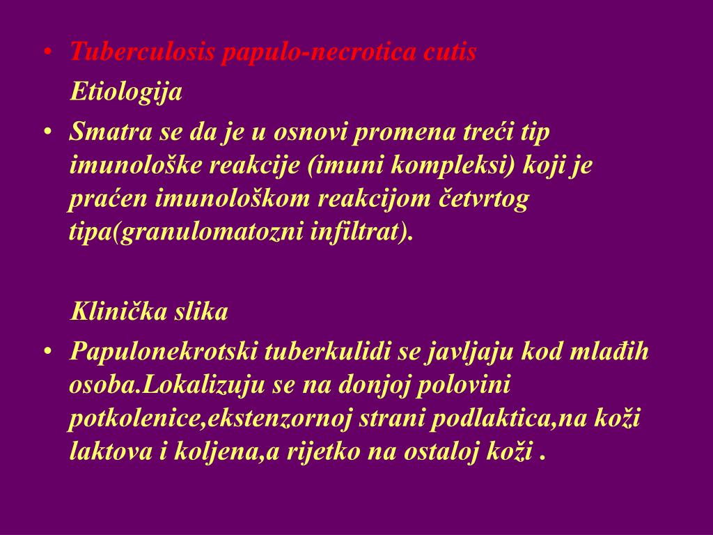 Tuberculosis papulo-necrotica cutis