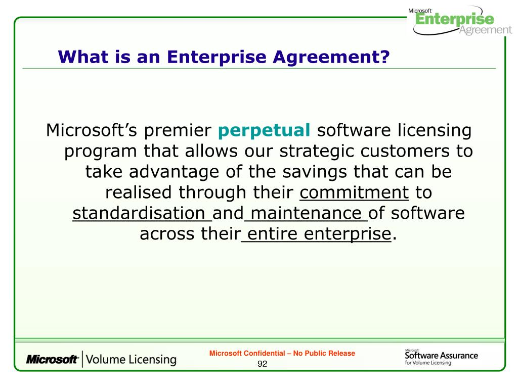 What is an Enterprise Agreement?