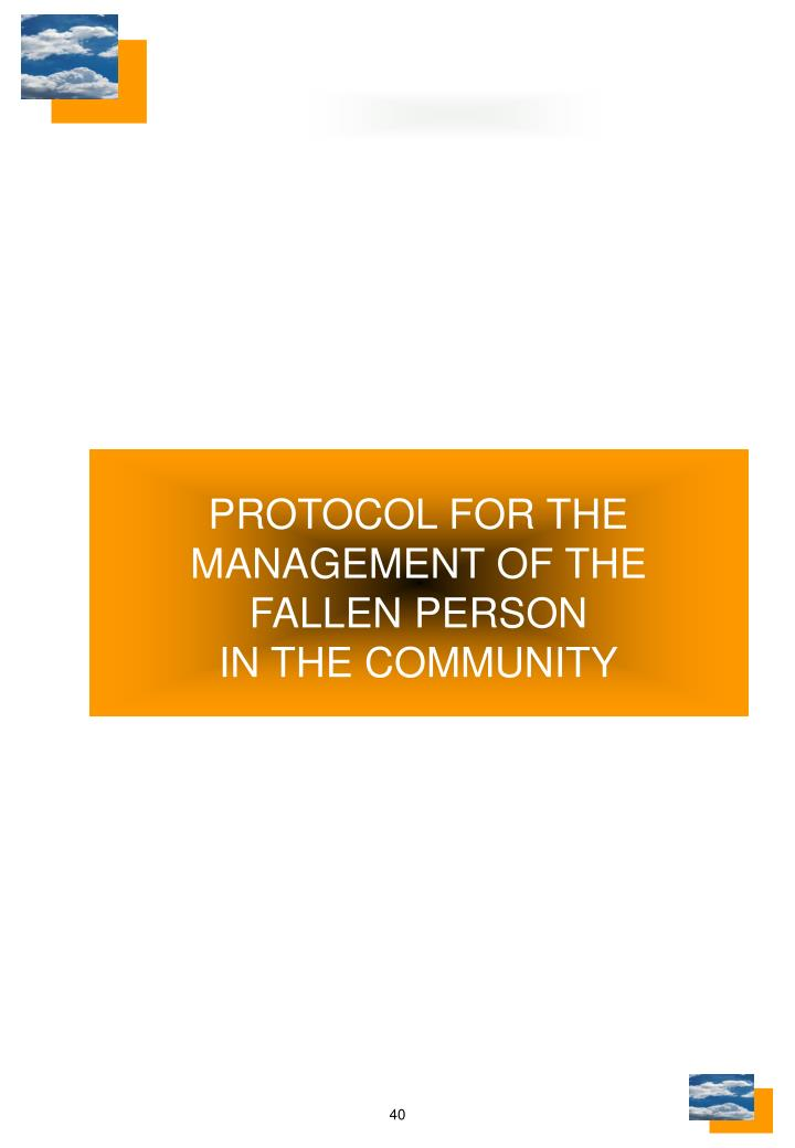 PROTOCOL FOR THE MANAGEMENT OF THE