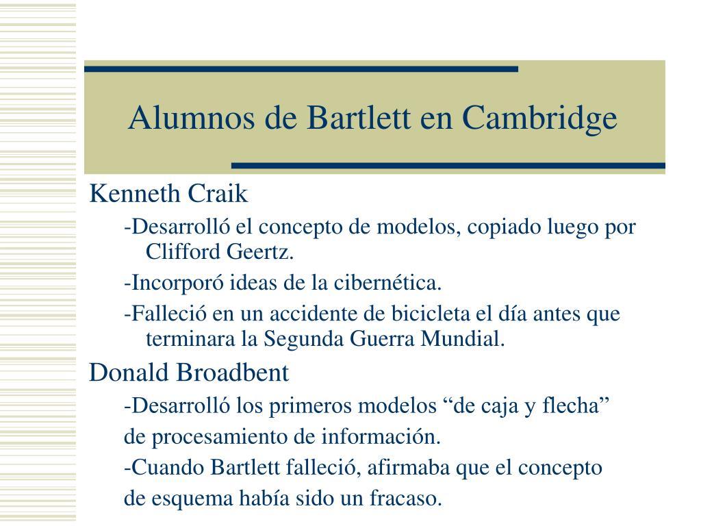 Alumnos de Bartlett en Cambridge