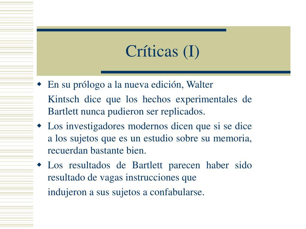 Críticas (I)