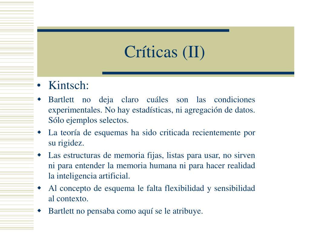 Críticas (II)