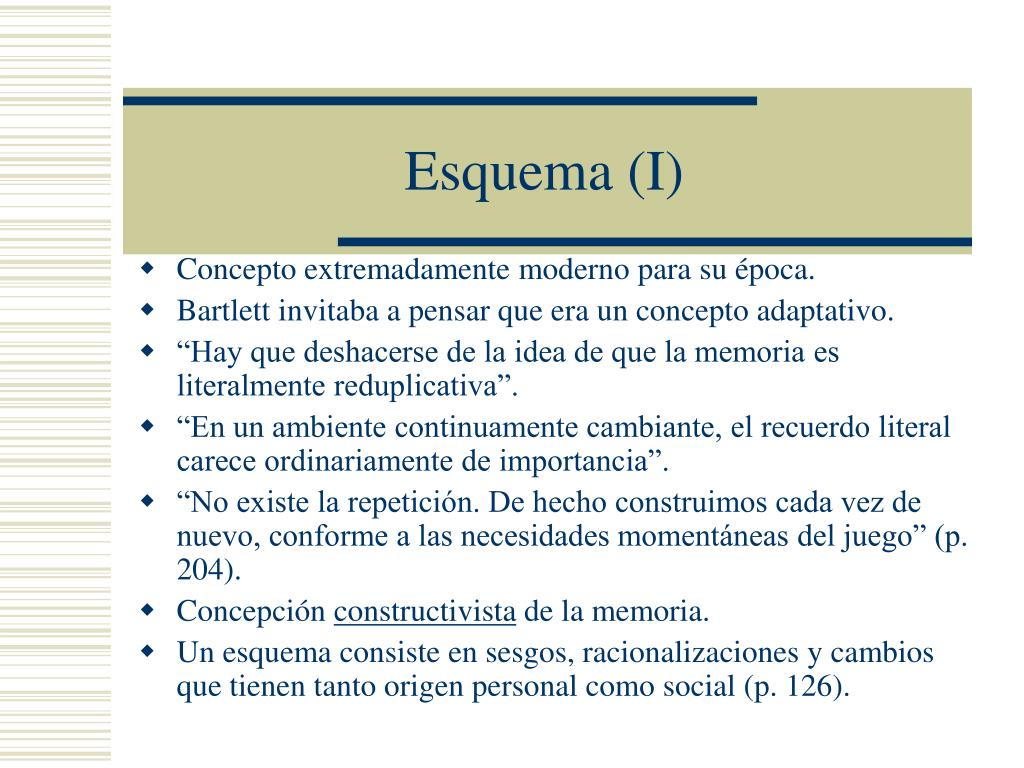 Esquema (I)