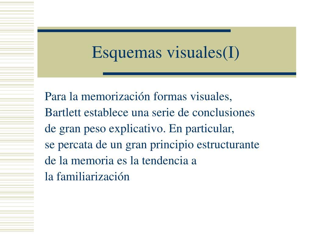 Esquemas visuales(I)