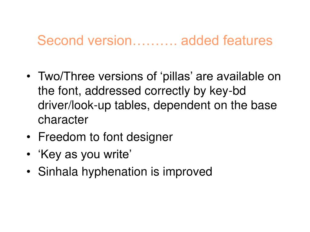 Second version………. added features