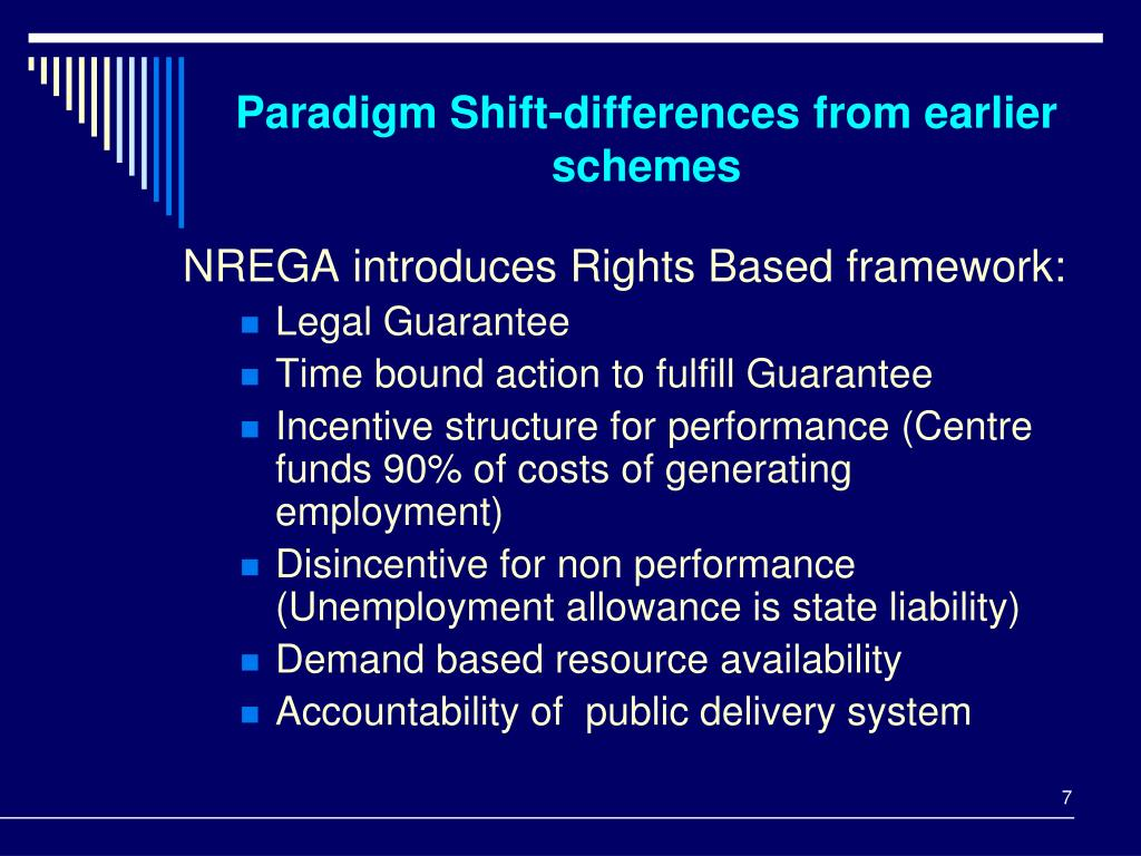 Paradigm Shift-differences from earlier schemes