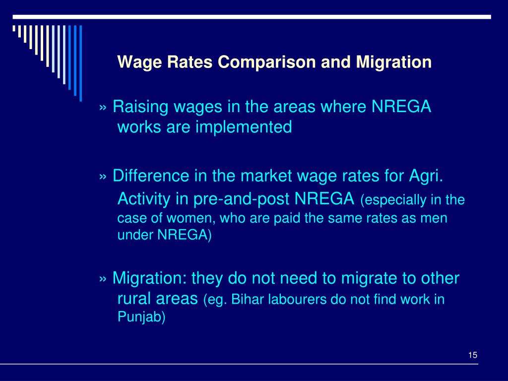 Wage Rates Comparison and Migration