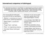 international companies in kaliningrad