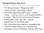 kaliningrad region basic facts