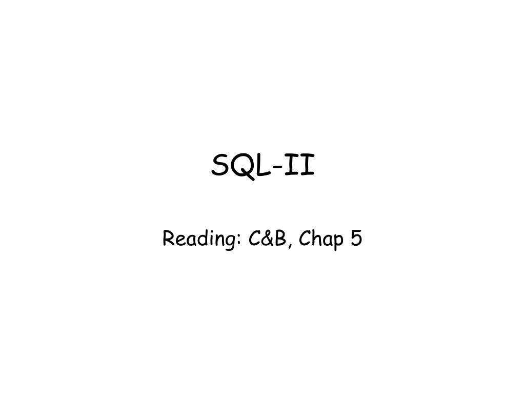sql ii