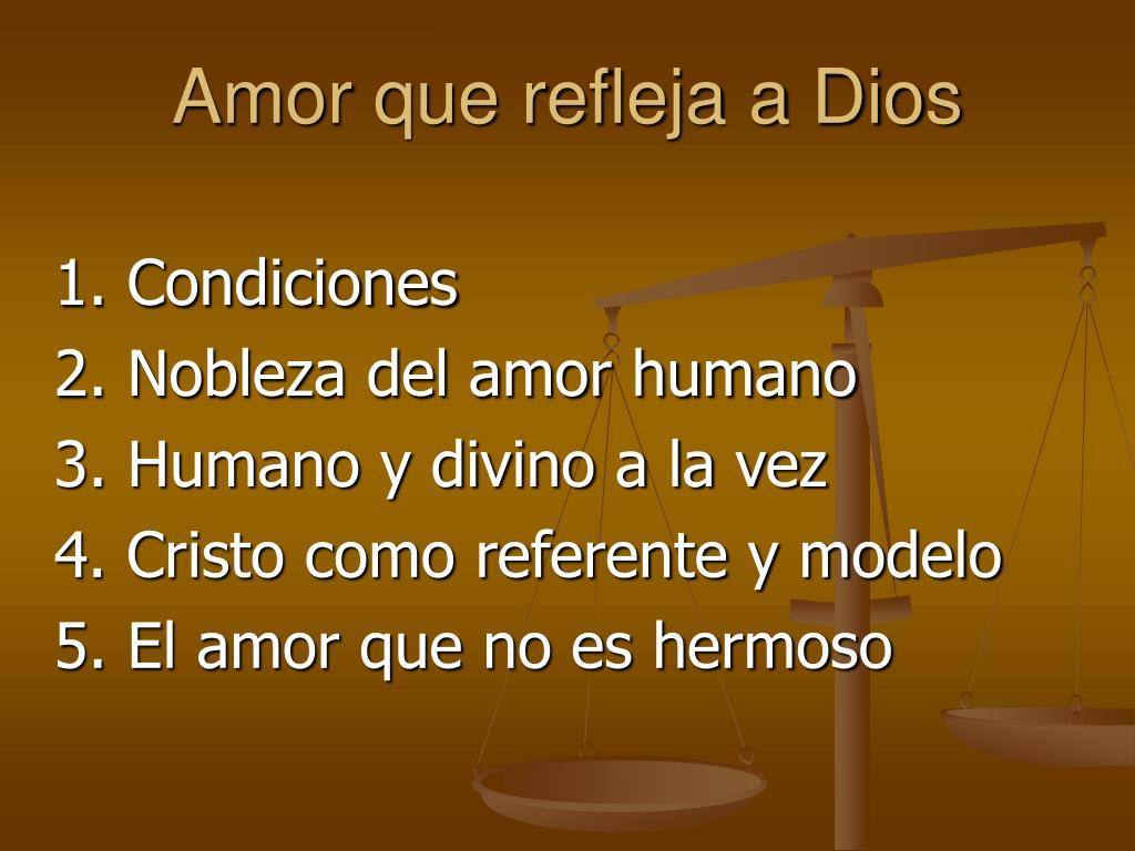 Amor que refleja a Dios