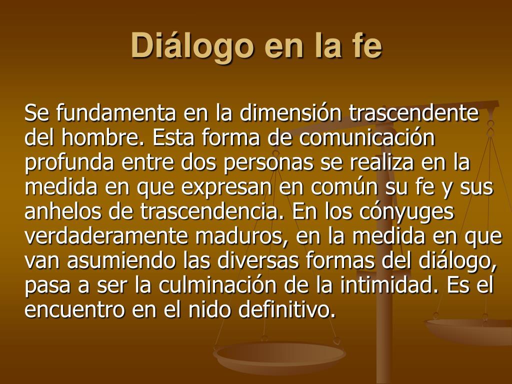 Diálogo en la fe