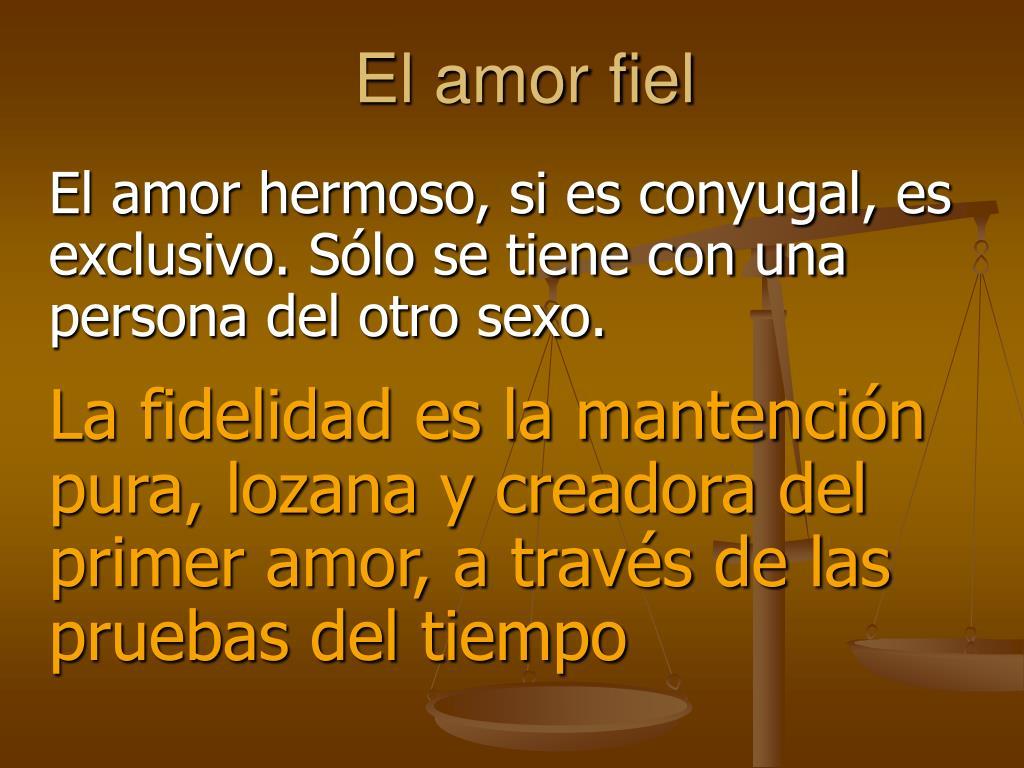 El amor fiel