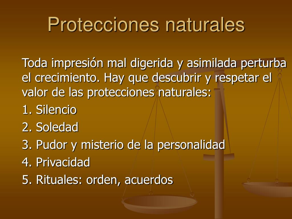 Protecciones naturales