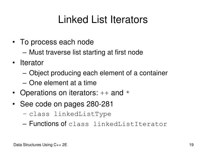 Linked List Iterators