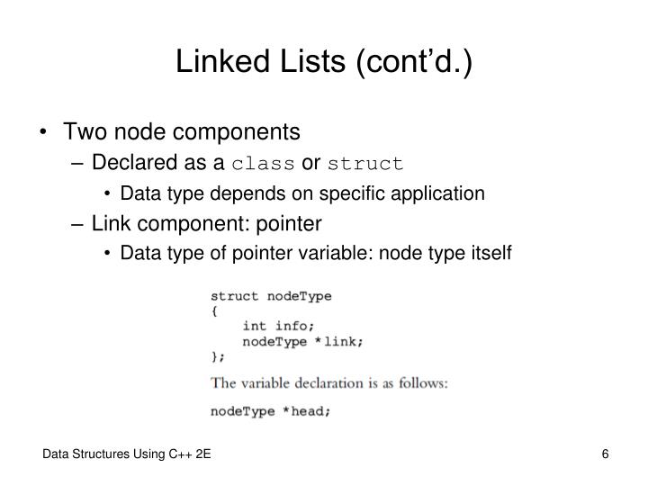 Linked Lists (cont'd.)