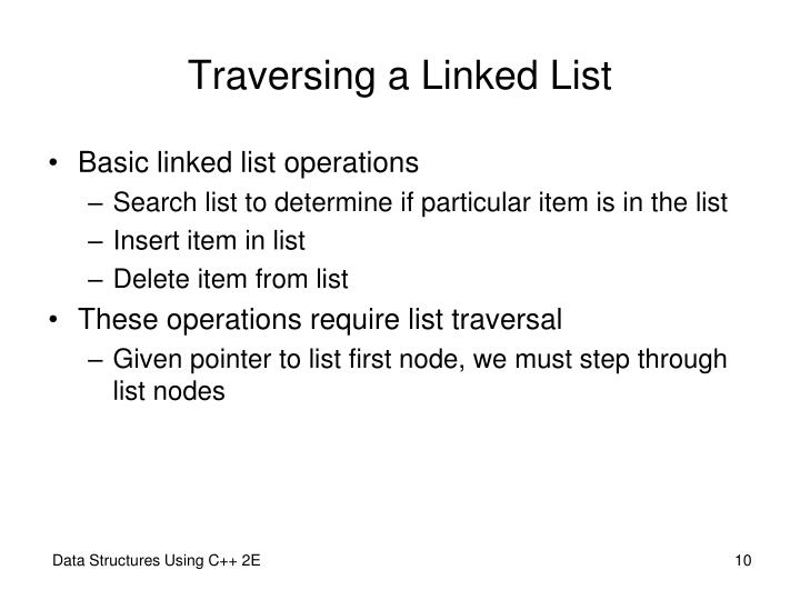 Traversing a Linked List