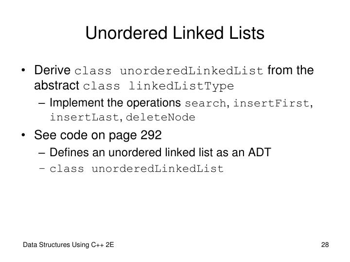 Unordered Linked Lists
